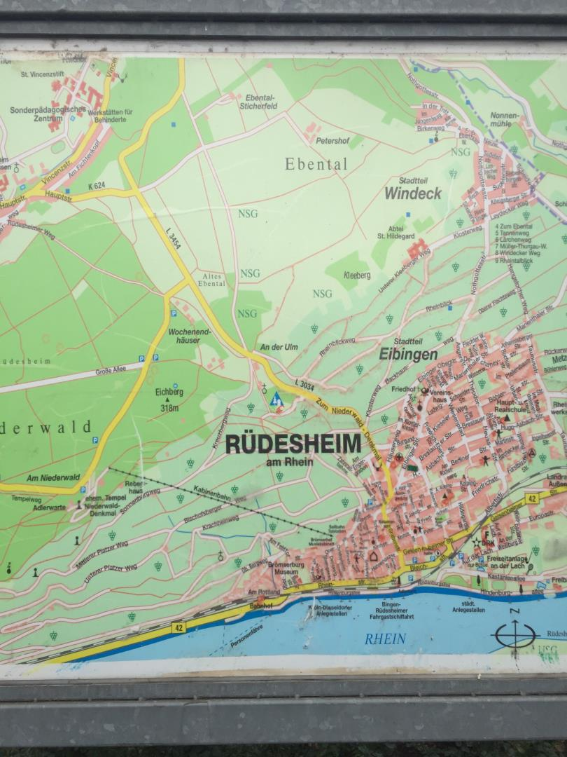 Rudesheim Germany map SnelgroveTravel.com