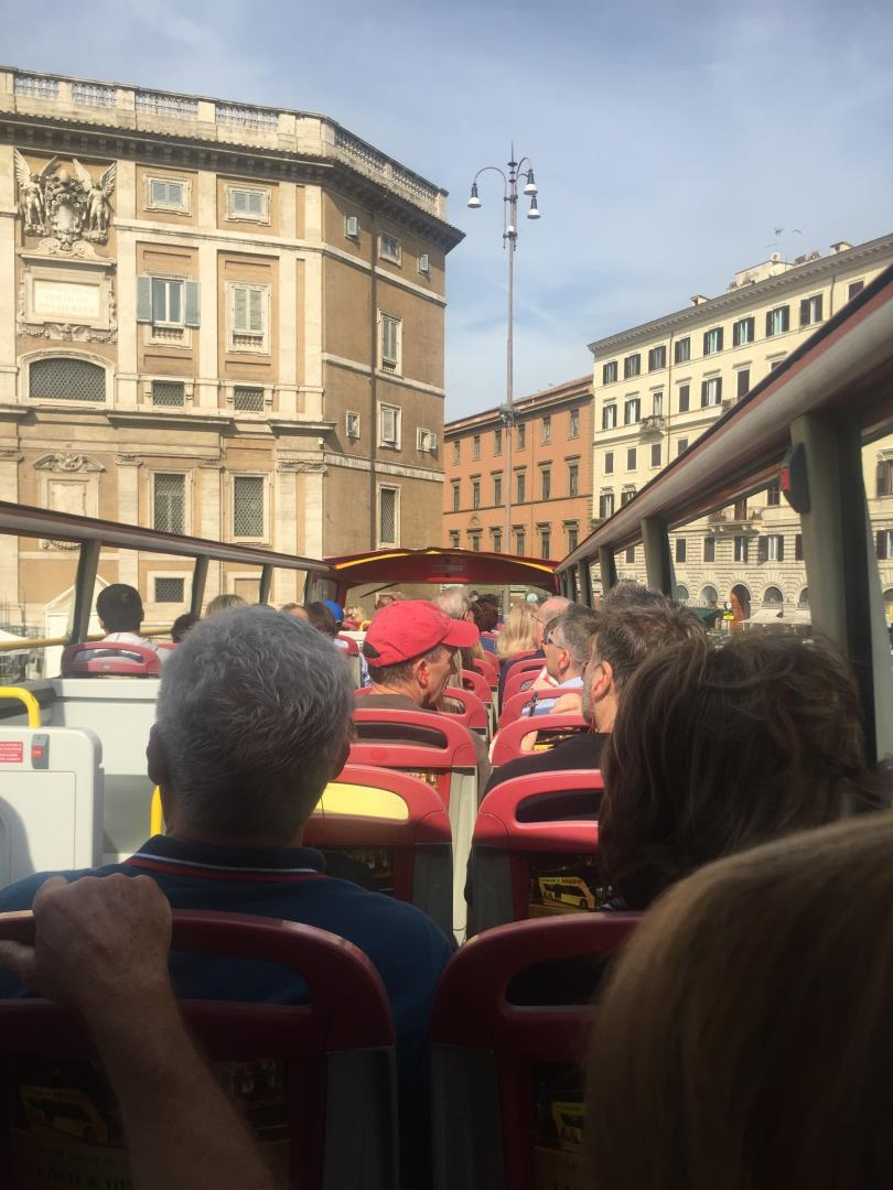 Hop on Hop off bus is a great way to see Rome