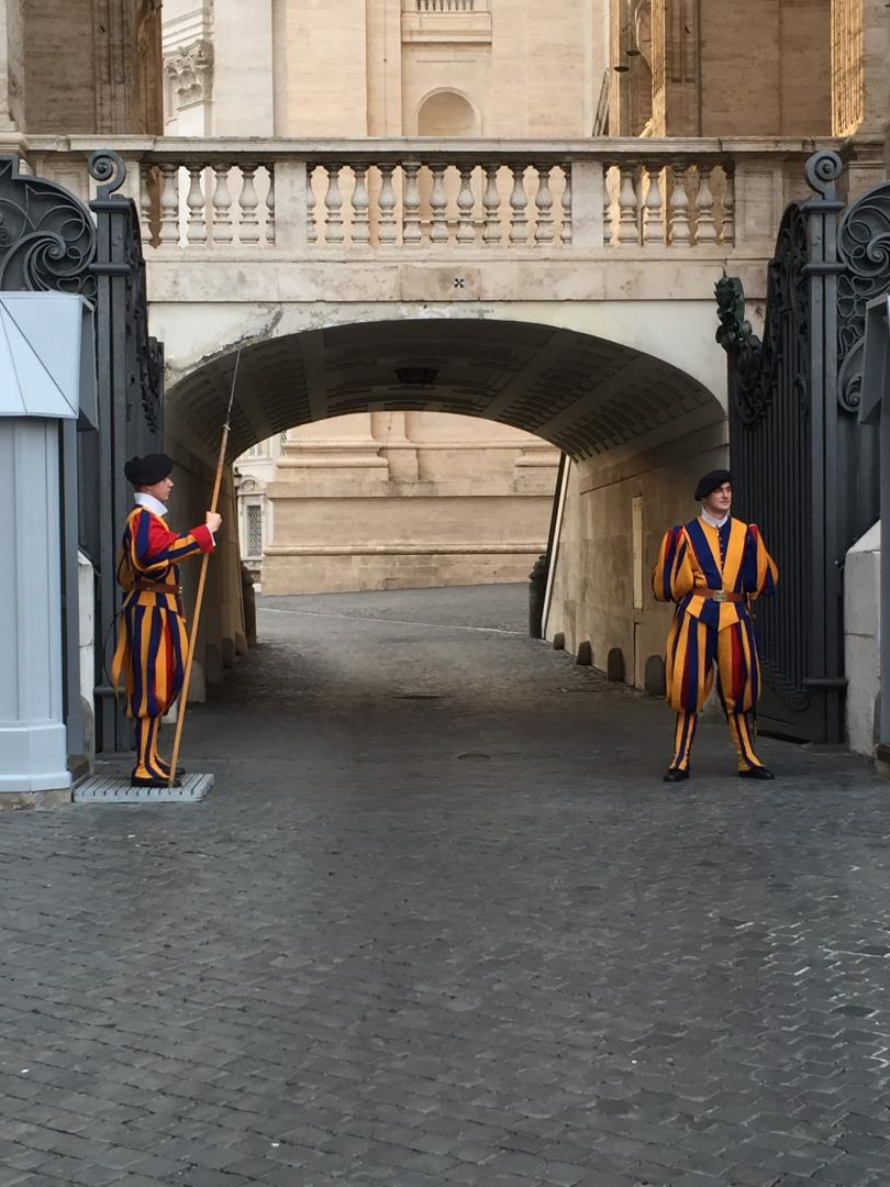 Swiss Guards at The Vatican during Snelgrove Travel trip