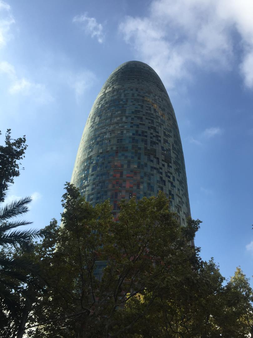 The Torre Agbar office building Barcelona