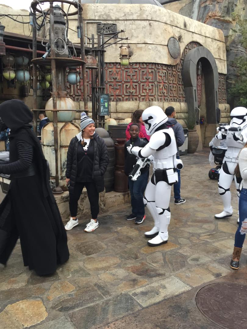 Star Wars Storm Troopers st Disneyland with Snelgrove Travel