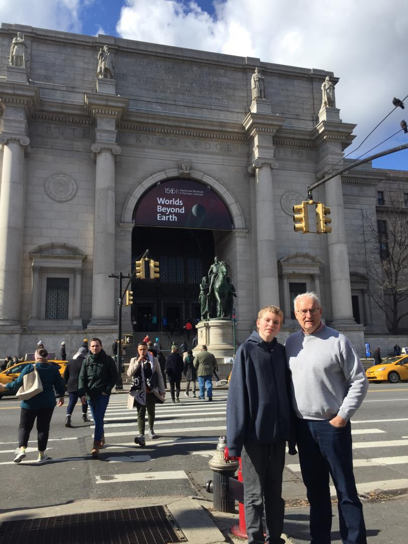 Richard Snelgrove and Charlie Cotter at American Museum of Natural History in NYC